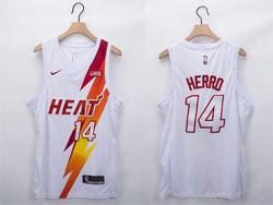 Mens Nba Miami Heat #14 Tyler Herro White Fashion Edition Nike Swingman Jersey