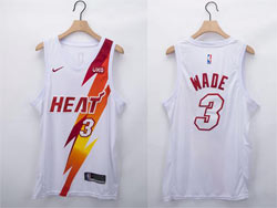 Mens Nba Miami Heat #3 Dwyane Wade White Fashion Edition Nike Swingman Jersey