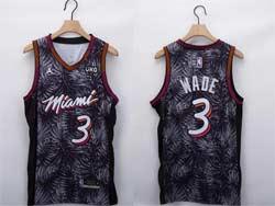 Mens Nba Miami Heat #3 Dwyane Wade White Fashion Edition Jordan Patch Swingman Jersey