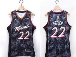Mens Nba Miami Heat #22 Jimmy Butler White Fashion Edition Jordan Patch Swingman Jersey