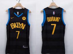 Mens Nba Brooklyn Nets #7 Kevin Durant Black Fashion Edition Nike Swingman Jersey