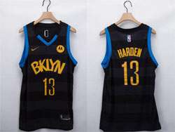 Mens Nba Brooklyn Nets #13 James Harden Black Fashion Edition Nike Swingman Jersey