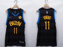 Mens Nba Brooklyn Nets #11 Kyrie Irving Black Fashion Edition Nike Swingman Jersey