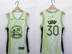 Mens Nba Golden State Warriors #30 Stephen Curry Green Fashion Edition Nike Swingman Jersey