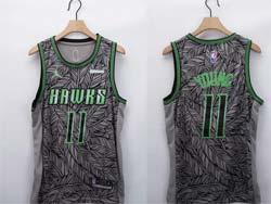 Mens Nba Atlanta Hawks #11 Trae Young Gray Fashion Edition Nike Swingman Jersey