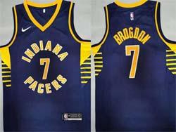 Mens Nba Indiana Pacers #7 Malcolm Brogdon Navy Blue Icon Edition Nike Swingman Jersey