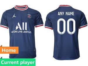 Mens 21-22 Soccer Paris Saint Germain Current Player Blue Home Thailand Short Sleeve Jersey