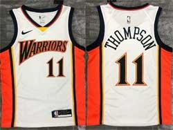 Mens Nba Golden State Warriors #11 Klay Thompson White Nike Swingman Jersey