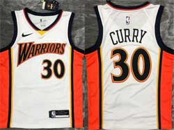 Mens Nba Golden State Warriors #30 Stephen Curry White Nike Swingman Jersey