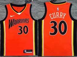 Mens Nba Golden State Warriors #30 Stephen Curry Orange Nike Swingman Jersey