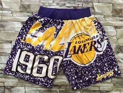 Mens Nba Los Angeles Lakers Purple Mitchell&ness Hardwood Classics Lakers Patch Pocket Shorts