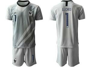 Mens Kids Soccer France National Team Custom Made Eurocup 2021 Goalkeeper Short Sleeve Suit