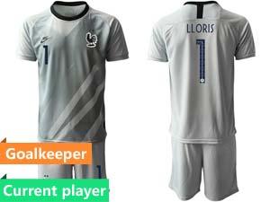 Mens Kids Soccer France National Team Current Player Eurocup 2021 Goalkeeper Short Sleeve Suit
