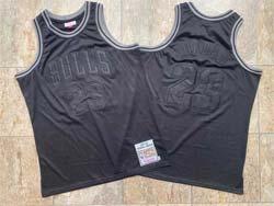 Mens Nba Chicago Bulls #23 Michael Jordan Black Embroidered Mitchell&ness Hardwood Classics Swingman Jersey