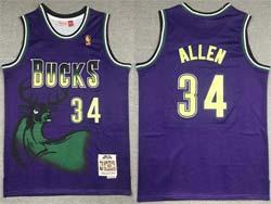 Mens Nba Milwaukee Bucks #34 Giannis Antetokounmpo Purple Mitchell&ness Hardwood Classics Jersey