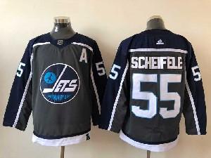 Mens Nhl Winnipeg Jets #55 Mark Scheifele Black 2021 Reverse Retro Alternate Adidas Jersey