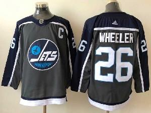 Mens Nhl Winnipeg Jets #26 Blake Wheeler Black 2021 Reverse Retro Alternate Adidas Jersey
