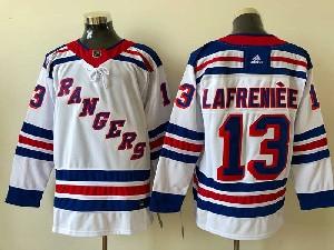 Mens Nhl New York Rangers #13 Alexis Lafreniere White Adidas Away Jersey