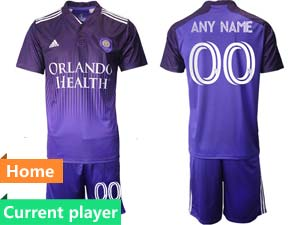 Mens 21-22 Soccer Orlando City Sc Club Current Player Purple Home Short Sleeve Suit Jersey