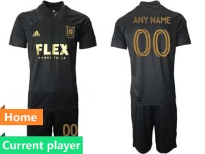 Mens 21-22 Soccer Los Angeles Fc Club Current Player Black Home Short Sleeve Suit Jersey