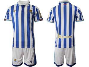 Mens 21-22 Soccer Real Madrid Club Current Player White Blue Stripe Sociedad Final De Copa Del Rey
