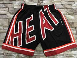 Nba Nike Miami Heat Black Mitchell&ness Just Don Shorts