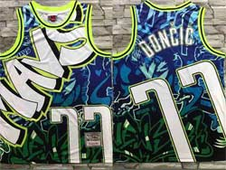 Mens Nba Dallas Mavericks #77 Luka Doncic Green Mitchell&ness Hardwood Classics Jersey