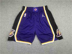 Mens Nba Los Angeles Lakers Purple Jordan Patch Shorts
