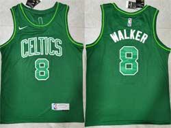 Mens 2021 Nba Boston Celtics #8 Kemba Walker Green Earned Edition Nike Swingman Jersey