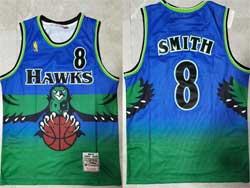 Mens Nba Atlanta Hawks #8 Steve Smith Green Mitchell&ness Hardwood Classics Jersey