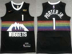 Mens Nba Denver Nuggets #1 Michael Porter Jr. Black Swingman Nike Jersey