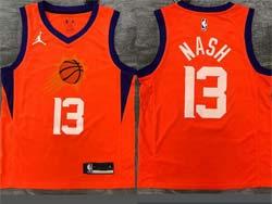 Mens Nba Phoenix Suns #13 Steve Nash Orange Jordan Swingman Jersey
