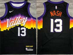 Mens Nba Phoenix Suns #13 Steve Nash Black Nike Swingman Jersey