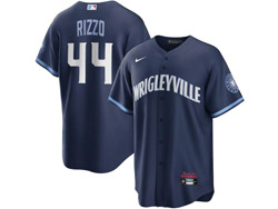 Mens Mlb Chicago Cubs #44 Anthony Rizzo Dark Blue Wrigleyville Cool Base Nike Jersey