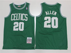 Mens Nba Boston Celtics #20 Ray Allen Green 07-08 Mitchell&ness Hardwood Classics Swingman Jersey