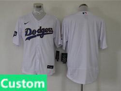 Mens Mlb Los Angeles Dodgers White Custom Made Champions Flex Base Nike Jersey