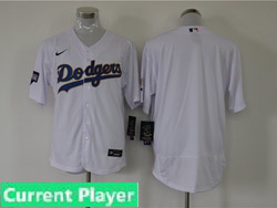 Mens Mlb Los Angeles Dodgers White Current Player Champions Flex Base Nike Jersey