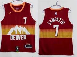 Mens 2021 Nba Denver Nuggets #7 Facundo Campazzo Red City Edition Nike Swingman Jersey
