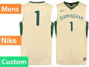Mens Ncaa Nba Birmingham Barons Custom Made Cream Swingman Nike Jersey