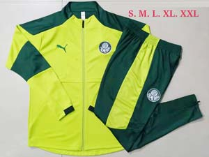 Mens 21-22 Soccer Se Palmeiras Club Green Jacket And Green Sweat Pants Training Suit A436#