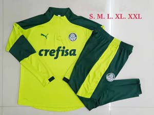 Mens 21-22 Soccer Se Palmeiras Club Green Training And Green Sweat Pants Training Suit B467#