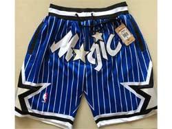 Mens Nba Orlando Magic Blue Stripe 1994-95 Just Don Pocket Shorts