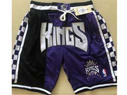 Mens Nba Sacramento Kings Purple Just Don Four Pockets Shorts