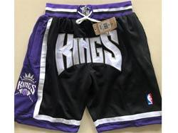 Mens Nba Sacramento Kings Black Just Don Four Pockets Shorts