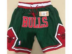 Mens Nba Chicago Bulls Green 2008-09 Just Don Pocket Shorts