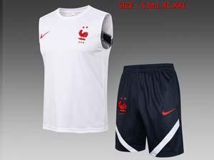 Mens 21-22 Soccer France National Team Vest Suit 2 Color