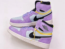 Mens And Women Nike Air Jordan 1 High Switch Purple Pulse Basketball Shoes One Color