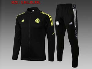 Mens 21-22 Soccer Club Brazil International Training And Black Sweat Pants Training Suit 3 Color