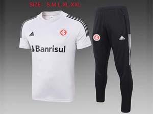 Mens 21-22 Soccer Club Brazil International Short Sleeve And Black Sweat Pants Training Suit 2 Color