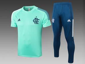 Mens 20-21 Soccer Flamengo Rj Club Short Sleeve And Black Pants Training Suit 2 Color